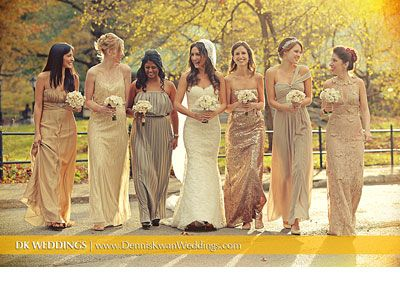 Gold Bridesmaids Wedding Ideas For Brides Grooms Pas Planners