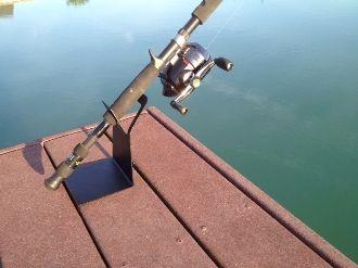Dock rod holder cabin pinterest for Pier fishing rod holder