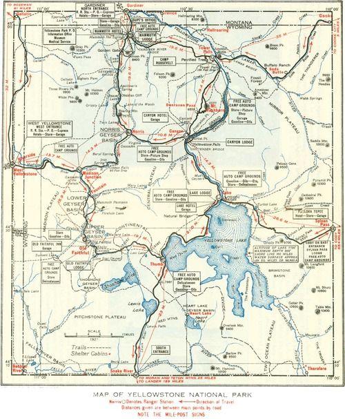 Yellowstone Some Day Travel Mapas Geografia Estados Unidos