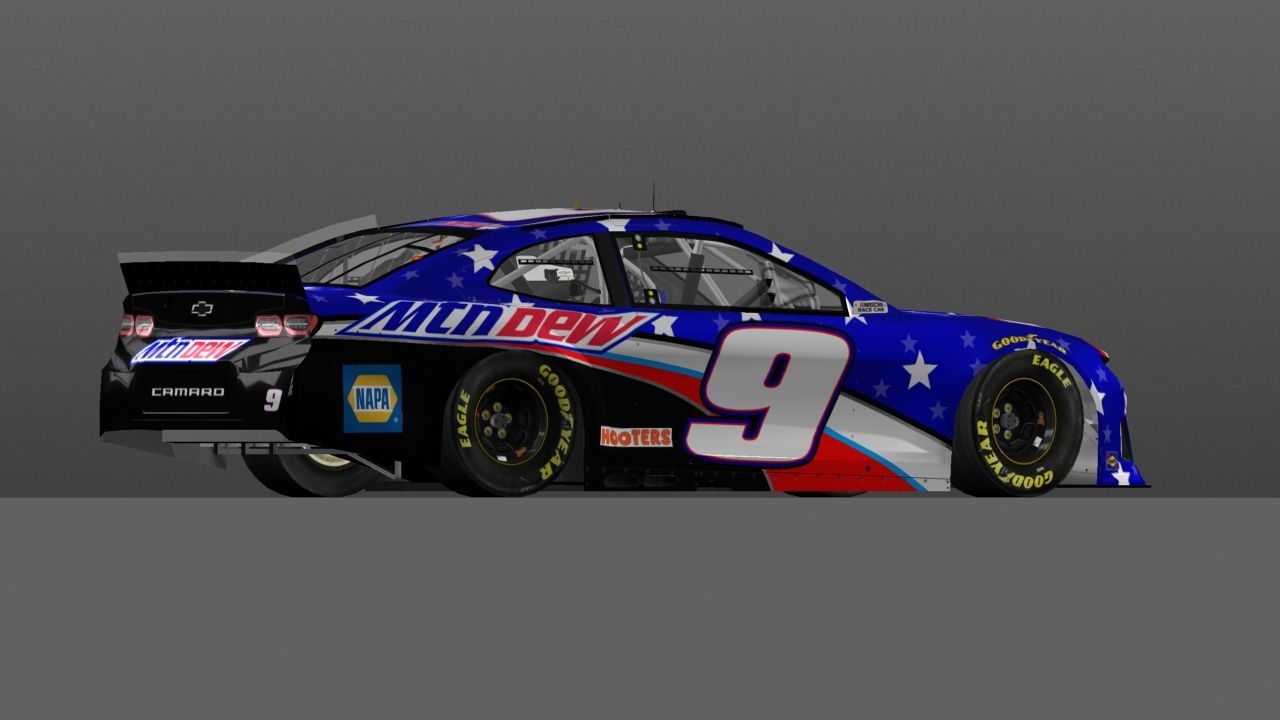 Pin By Levi Bruce On Fictional Nascar Paint Schemes And Stock Cars In 2020 Stock Car Sports Car Chase Elliott