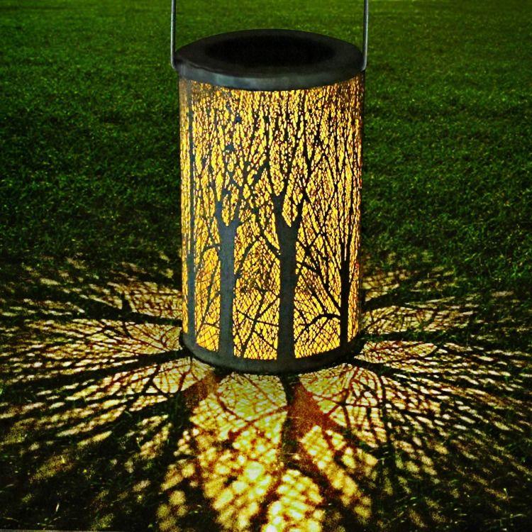 Yokunat Led Solar Laterne Fur Draussen Solar Garten Hangende Laterne Zylinderformige Nachtlicht Wasserdicht Ip44 Mit Lichtempfindlichkeit In 2020 Laterne Garten