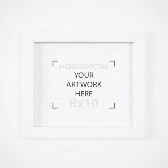 matted white frame 8x10 frame mockup product mock up stock images horizontal