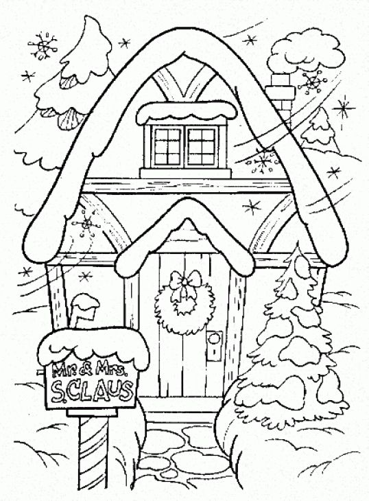 winter coloring page printable - Printable Winter Coloring Pages