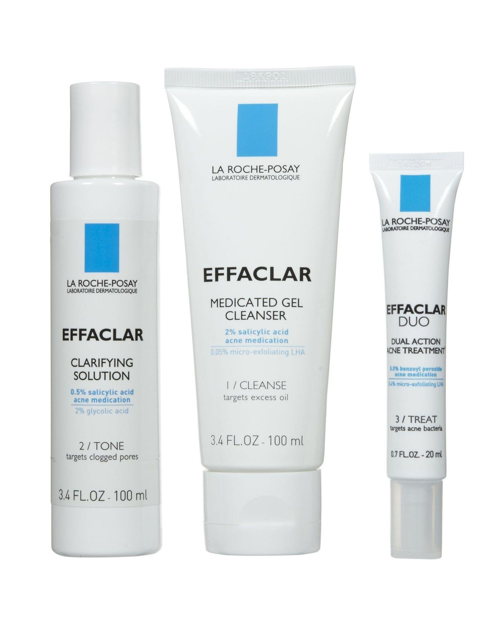 Amazon Com La Roche Posay Effaclar 3 Step System Beauty Skin Care Secrets Gel Cleanser Skin Care Blackheads