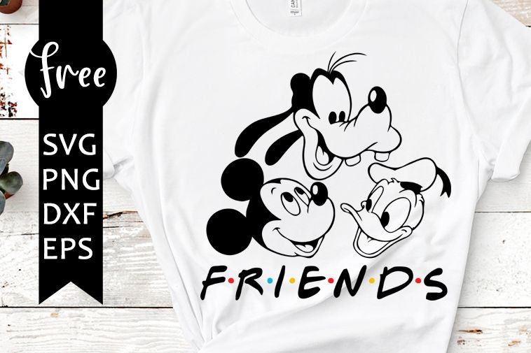 Disney Svg Free Friends Svg Donald Duck Svg Instant Download Mickey Mouse Svg Shirt Design Goofy Svg Free Vector Files Png Dxf 0389 In 2020 Cricut Free Disney Silhouette Cricut Design