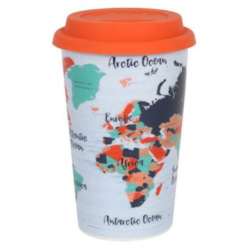 Ceramic Travel Mug Tea Coffee Adventure Awaits Design Double Walled Present Ebay In 2020 Travel Mug Mugs Thermal Travel Mug