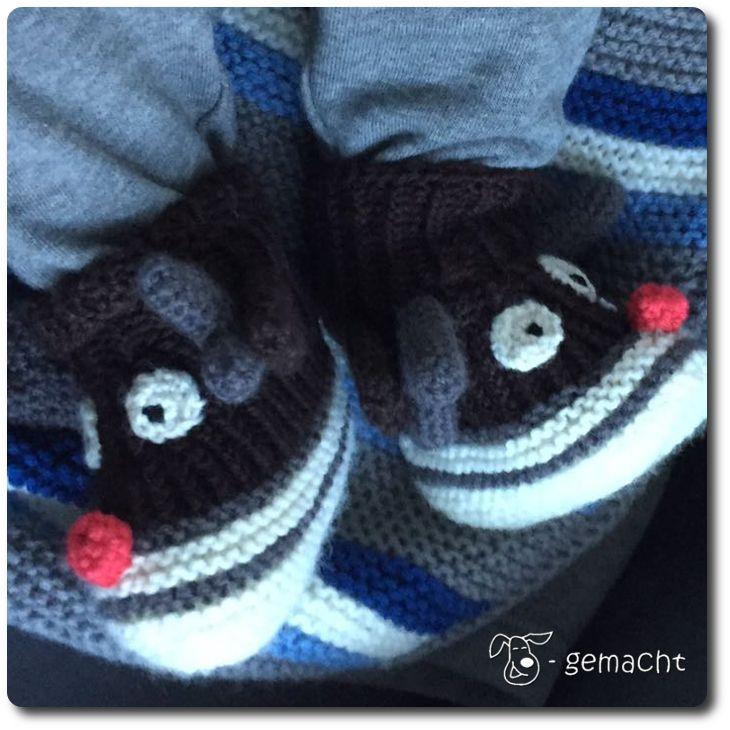 Rentier-Schuhe zum Nikolaus