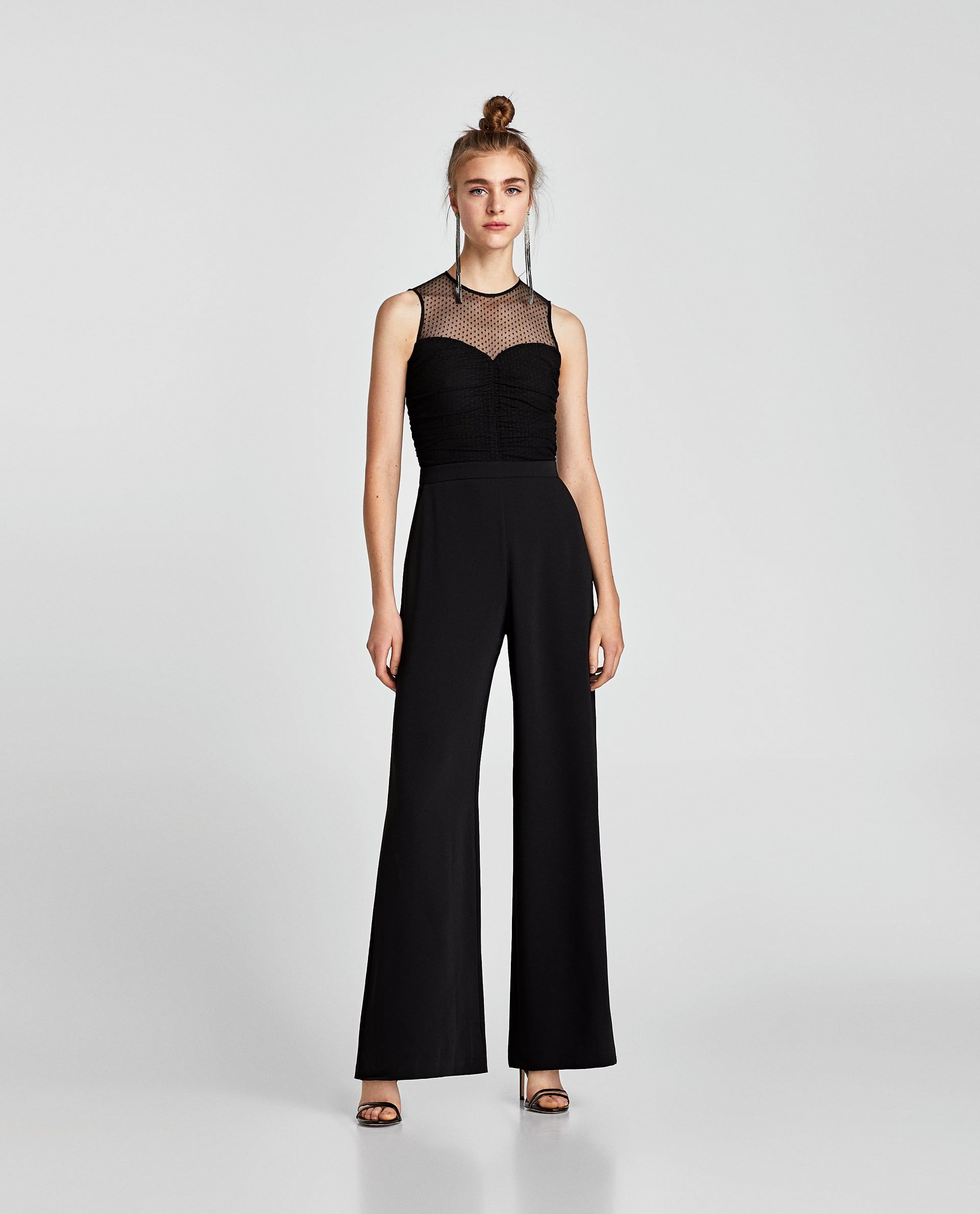 82c7b08c305 ZARA - WOMAN - CONTRASTING DRAPED JUMPSUIT