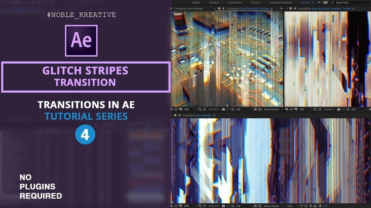 Glitch Stripes Transition in After Effects | No Plugin Required | AE