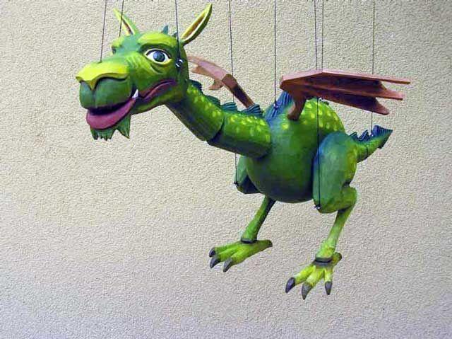 Dragon, marionette puppet   Loutky   Pinterest   Drache, Puppe und Zwerg