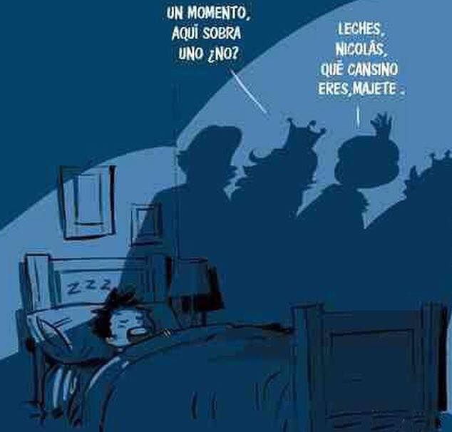 Aquí sobra uno, no??? #Humor #ReyesMagos #Navidad