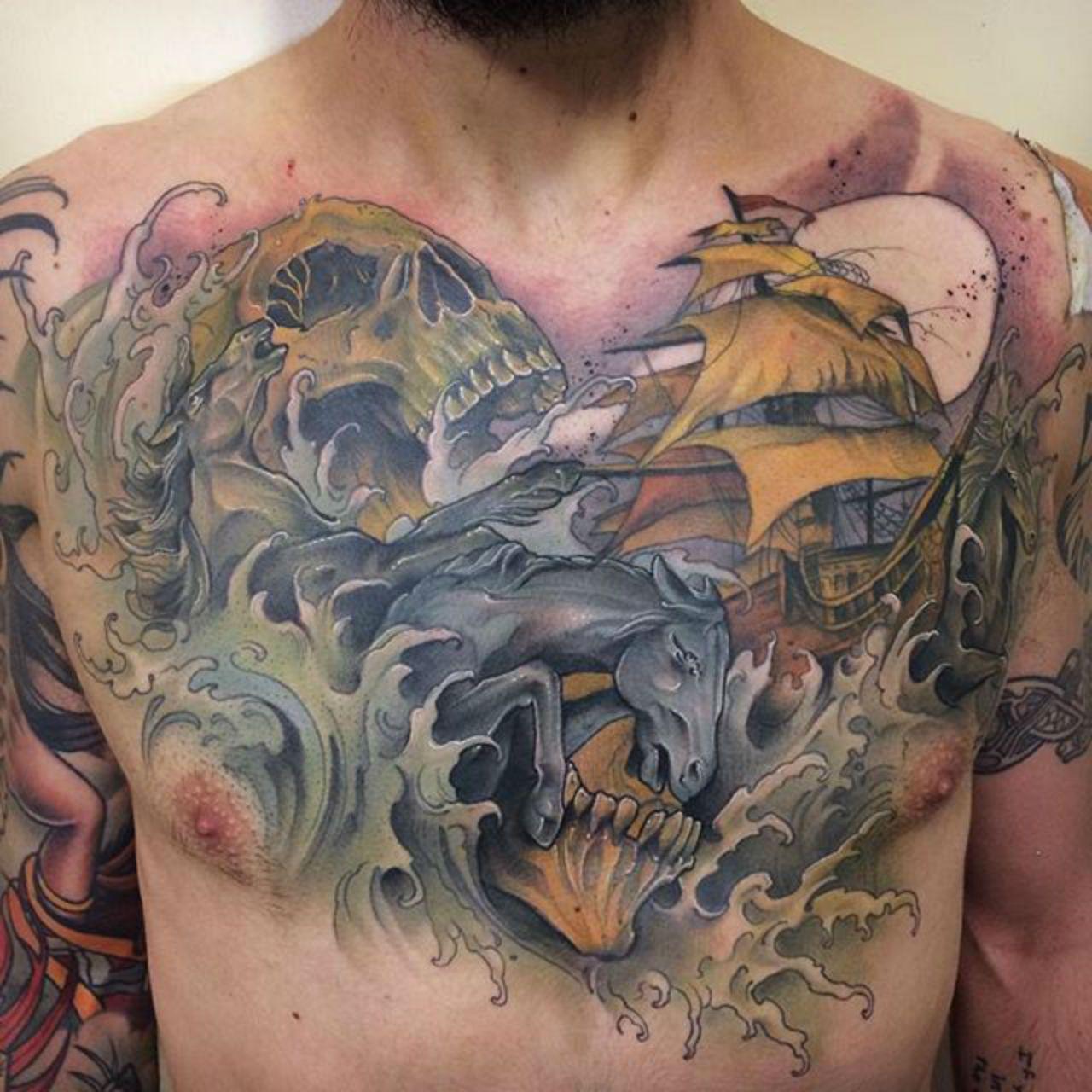 Emma D Tattoos, Tattoo designs, Chest tattoo