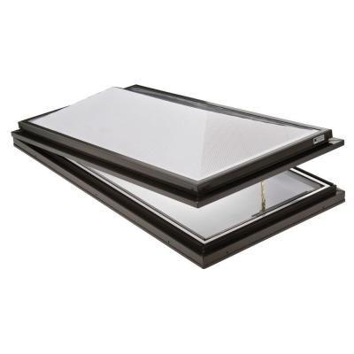 Sunoptics Prismatic 2 ft. x 4 ft. Venting Curb-Mounted Double Hip Skylight- $369 DHPCUSTW26.625L50.625TGZ50CC2LENSCL800MD - The Home Depot