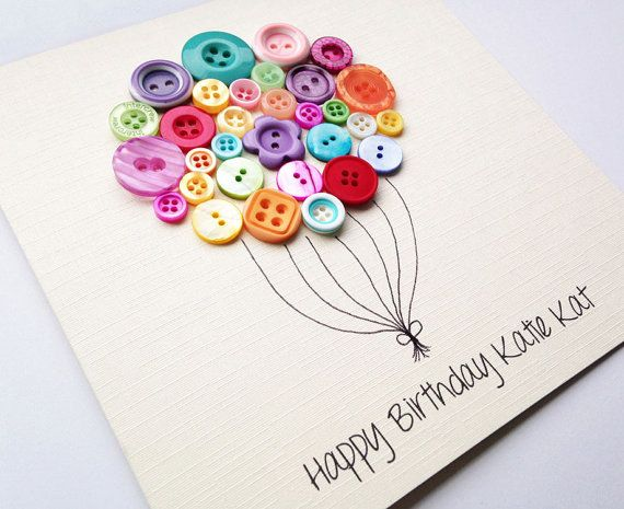 Best friend birthday card beautiful button balloon button art best friend birthday card beautiful button balloon button art card sister card thank you card birthday card daughter birthday bookmarktalkfo Images