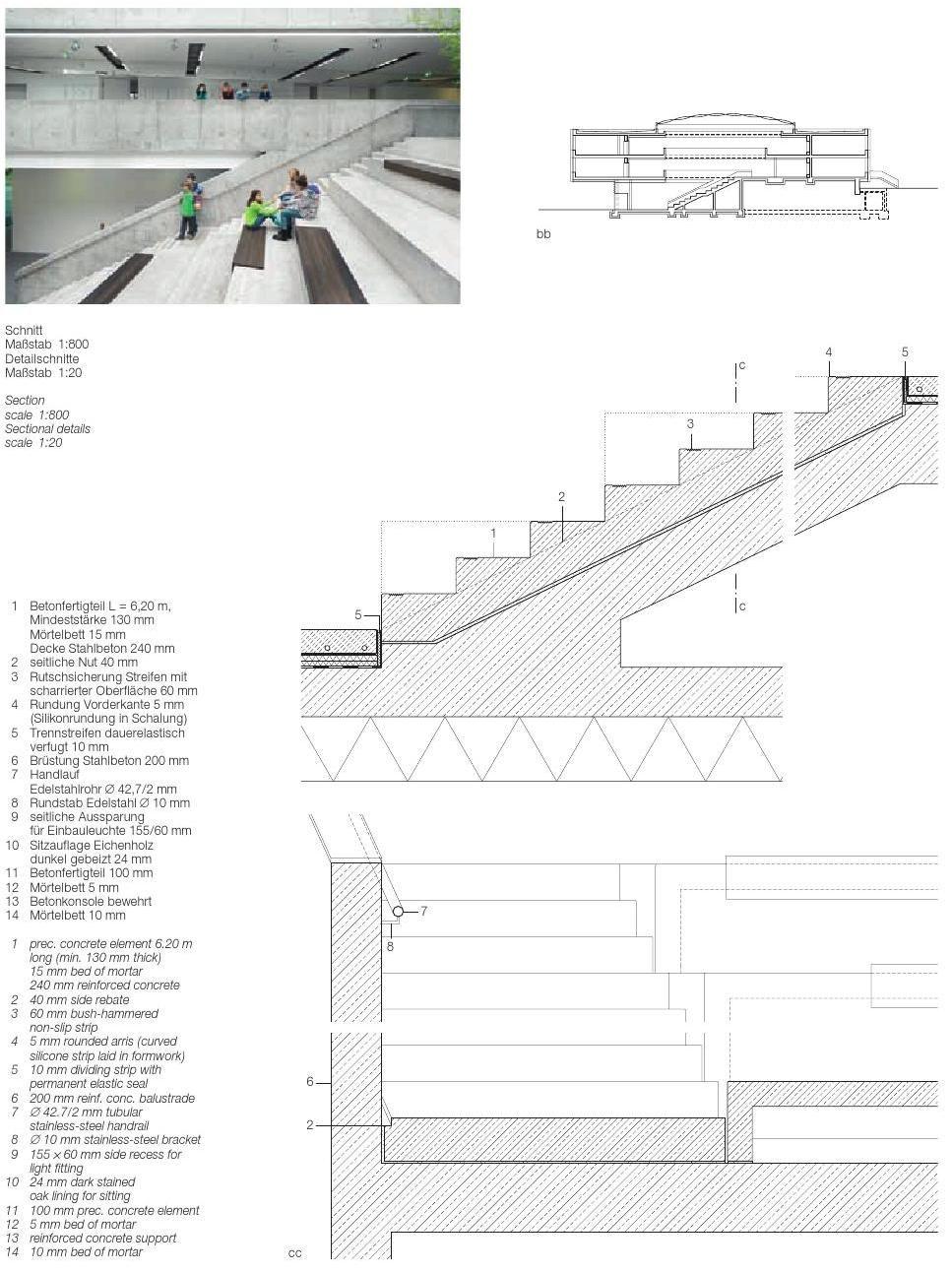 Detail 04 2014 Treppen Rampen Aufzuge Stairs Ramps Lifts Escaliers Rampes Clippedonissuu Architekturzeichnung Stahlbeton Treppe