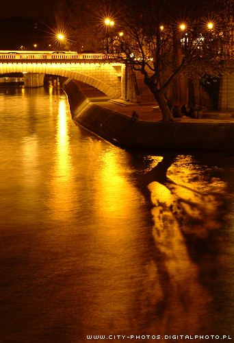 night in Paris - Seine river