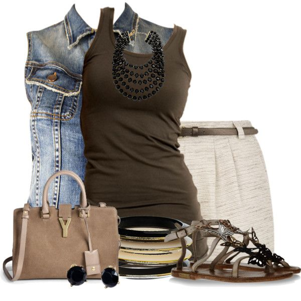 """Denim Vest"" by colierollers on Polyvore"