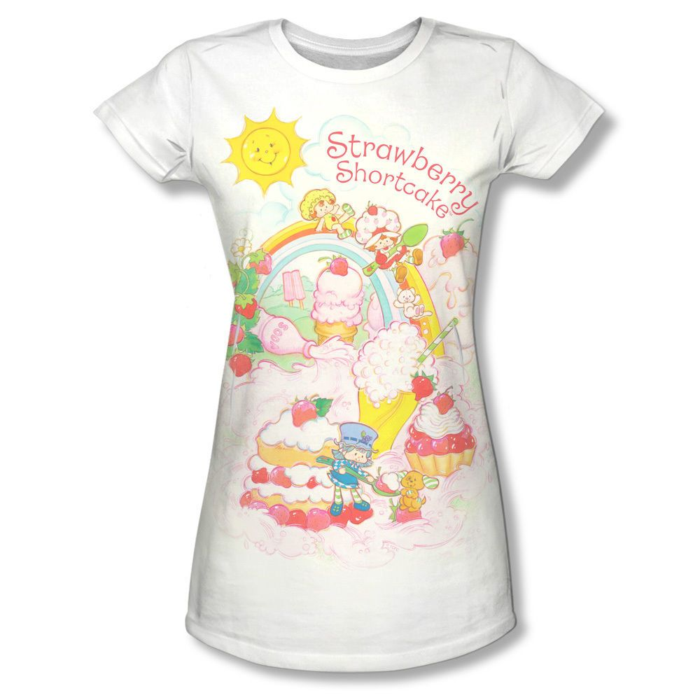 a75c3dd4c30 Official Strawberry Shortcake Slide All Over Vintage Ladies Women Jr ...