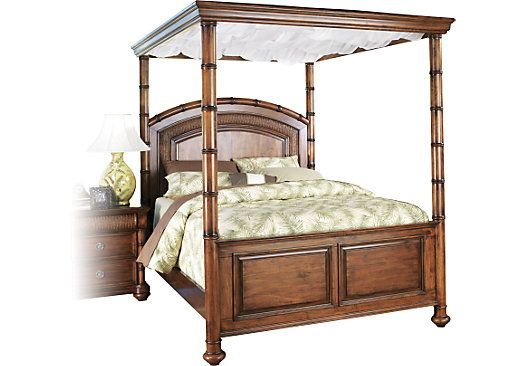 Shop For A Cindy Crawford Home Key West Dark Canopy 4 Pc King Bed