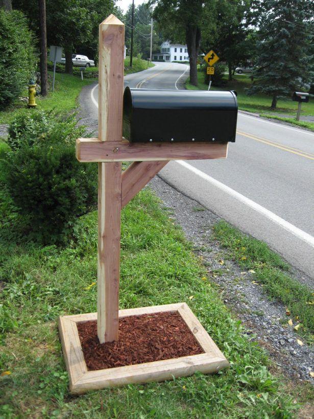 Exterior Concrete For Mailbox Post Triple Mailbox Post