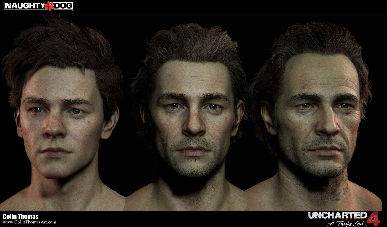 Nathan Drake Uncharted 4 Concept Art