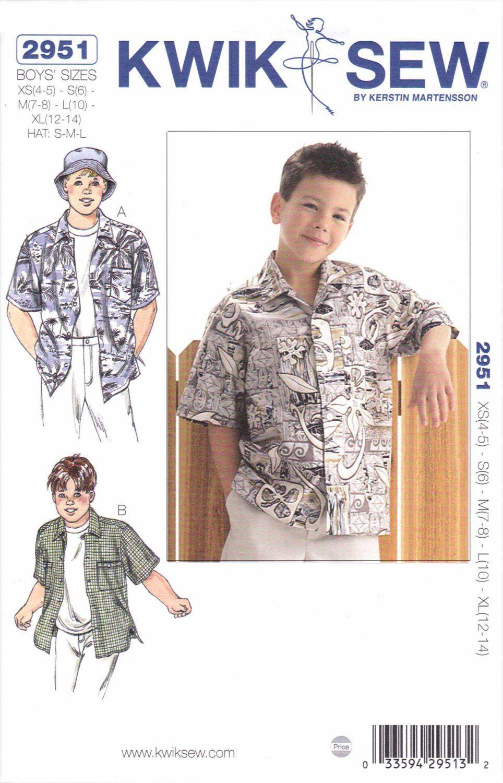 Kwik sew sewing pattern 2951 boys sizes xs xl 4 14 classic kwik sew sewing pattern 2951 boys sizes xs xl 4 14 classic camp shirtskwik jeuxipadfo Images