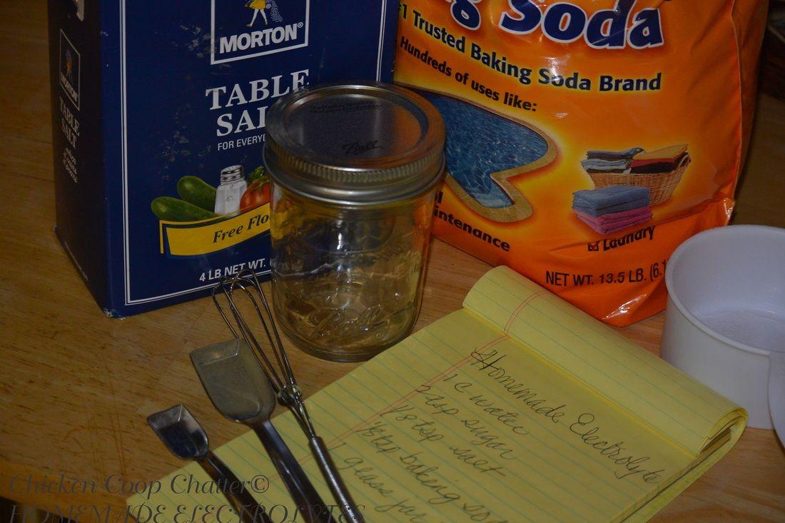 Electrolyte recipe 1 c water 2 t sugar 18 t salt 18 t