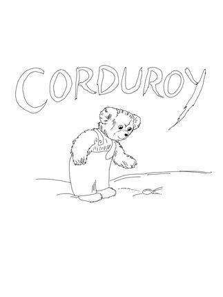 Click To See Printable Version Of Corduroy Is Looking For Button