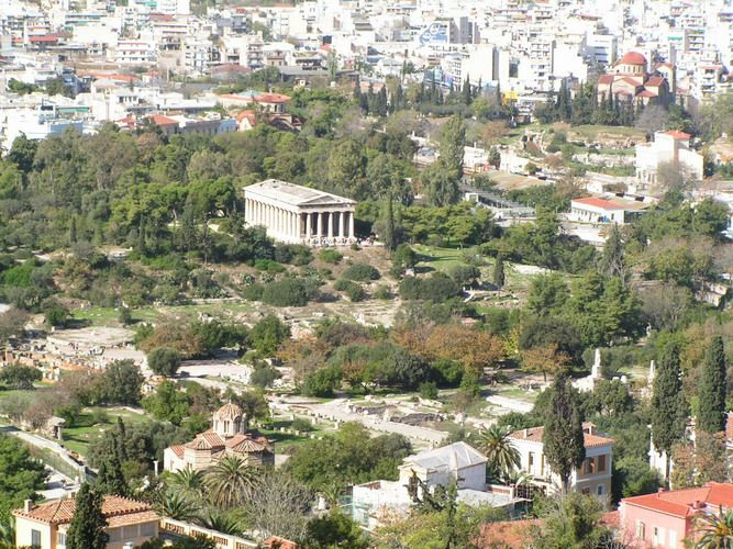 Temple To Hephaestus Aka The Thission In The Ancient Agora The