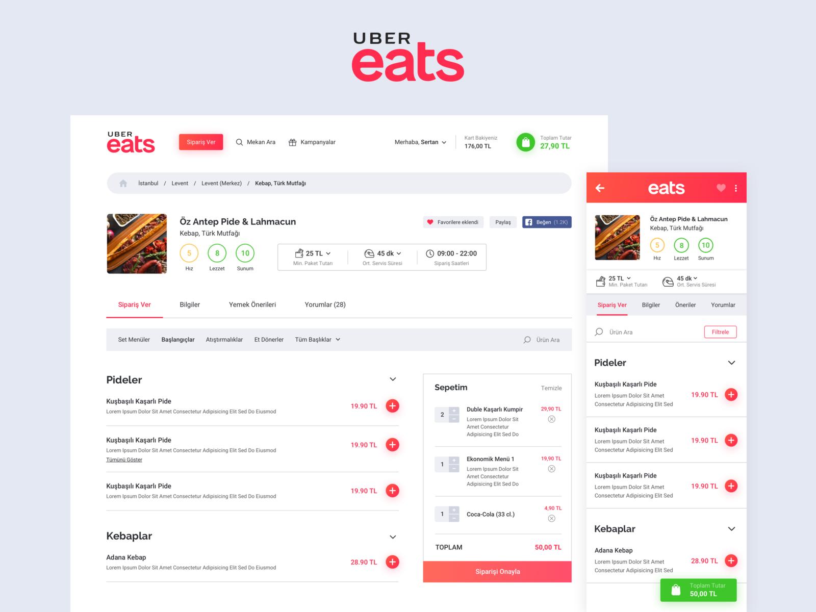 Uber Eats Order Food Online
