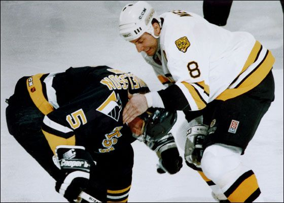 A Well Deserved Beating Doled Out By 8 Cam Neely Boston Bruins Hockey Boston Hockey Bruins Hockey