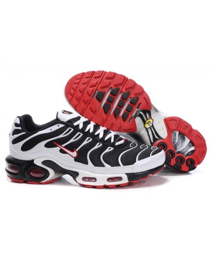 Black Friday Nike Air Max TN Mens Black White Fire Red Sale