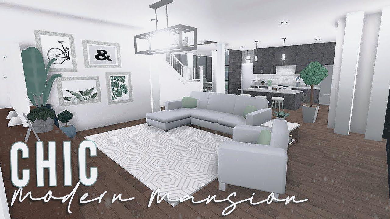 ROBLOX | Bloxburg: Chic Modern Mansion 120k in 2020 | Cute ...