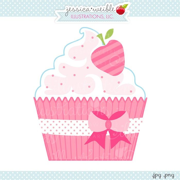 strawberry cupcake clipart jw illustrations cute pink cupcake rh pinterest com pink cupcake clipart Cupcake Clip Art Black and White