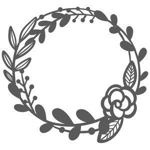 floral double stem wreath cricut