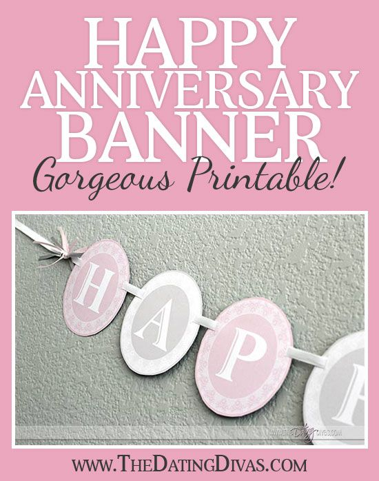 Celebrate Your Anniversary In Style Every Year With This Cute Free Printable Banner You Can Customize The Colors Www
