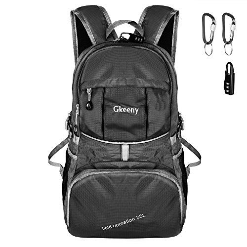 cb0a649e1267 Gkeeny 35L Backpack, Lightweight Rucksack Foldable Hiking Daypack ...