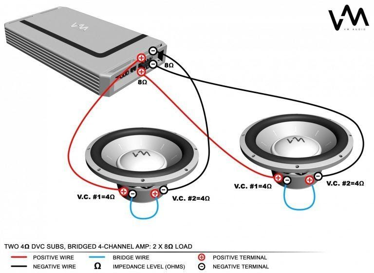 Pin on wiring diagram | With 2 Single Voice Coil Wire Diagram For Channel Amps Subs |  | Pinterest