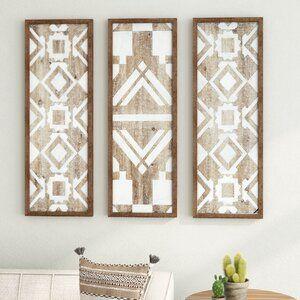 3 Piece Natural Wood Décor Set