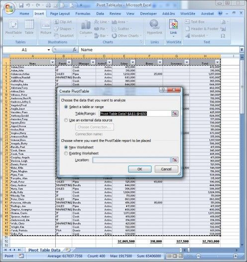 How to Use Pivot Tables in Microsoft Excel Pivot table, Microsoft - spreadsheet compare 2010 download