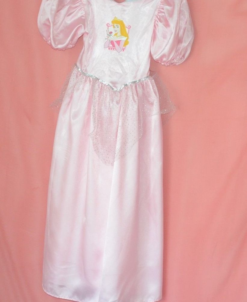 Disney Princess Cinderella Costume Party Dress Pink White Tulle ...
