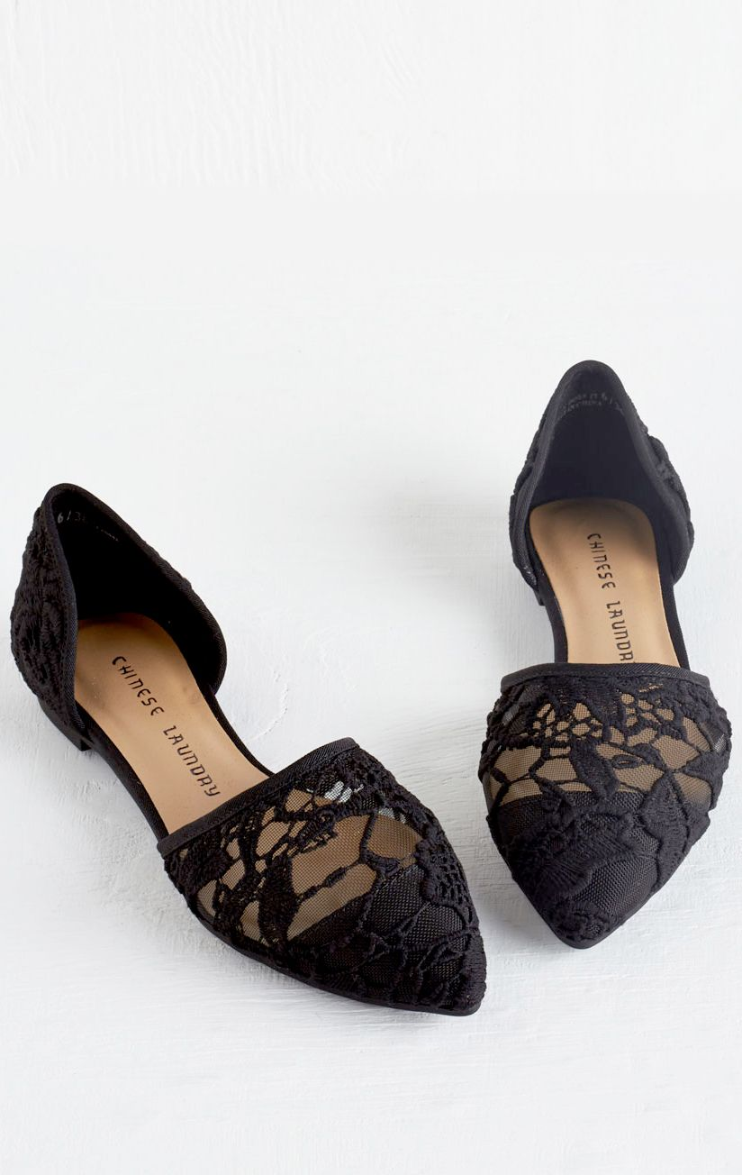 1d2bf98eda530 Black lace flats | Shoes Shoes Shoes! | Lace flats, Shoes, Shoe boots