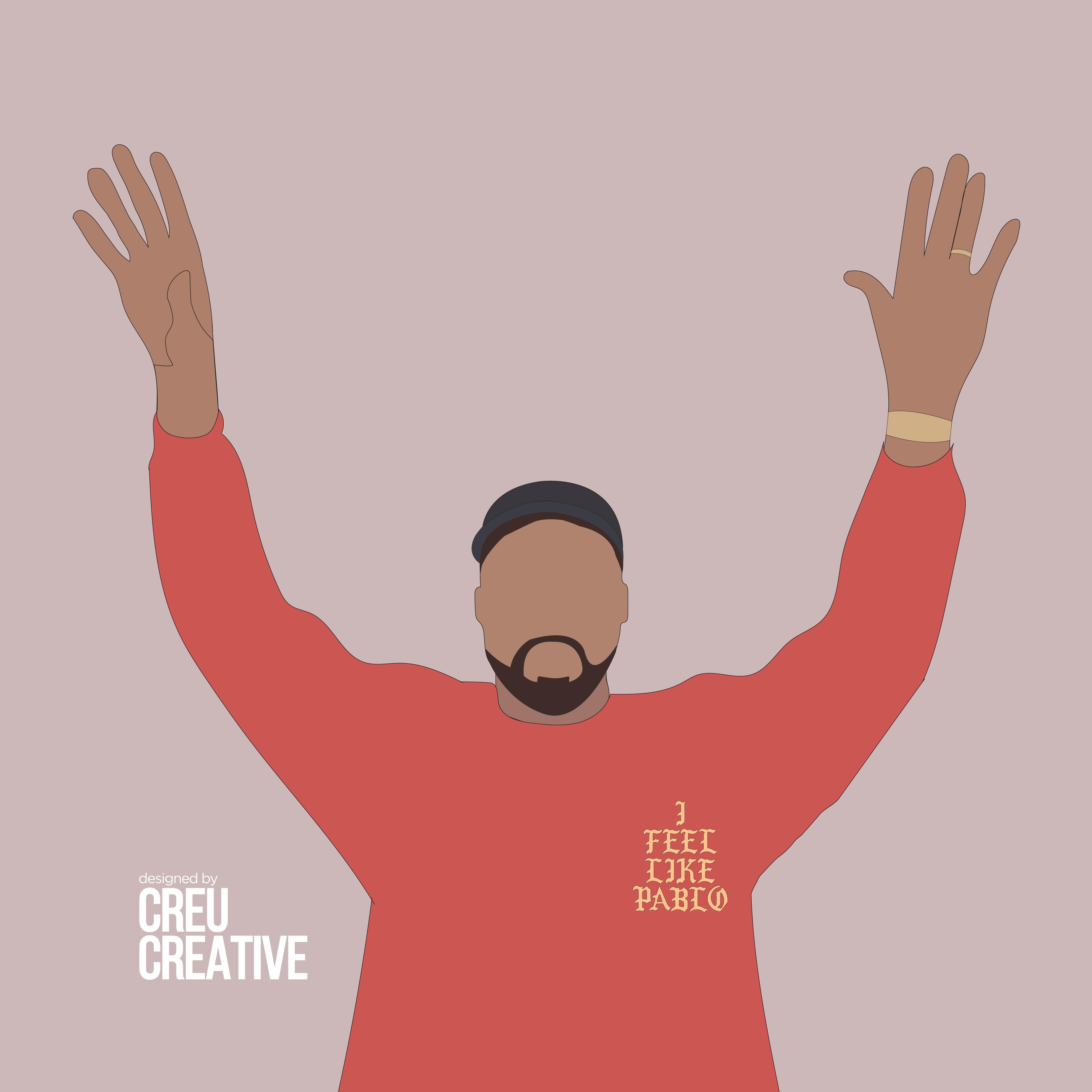 Kanye West Illustration I Feel Like Pablo Kanye West Painting West Art Illustration
