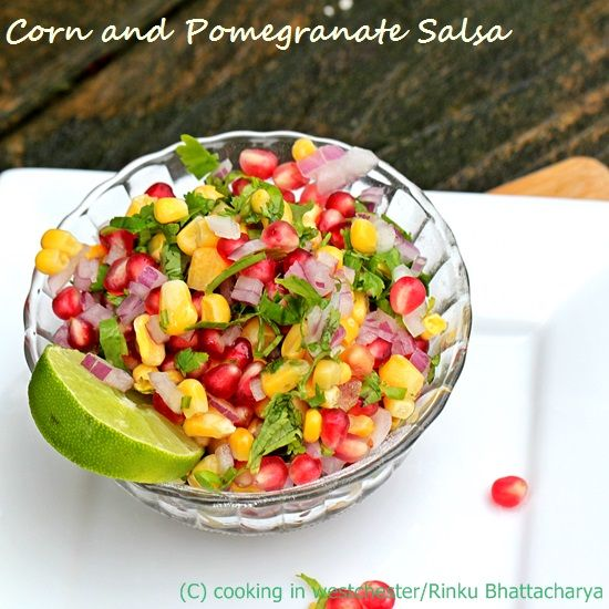 A fresh tasting indian spiced salad with corn and pomegranate a fresh tasting indian spiced salad with corn and pomegranate colorful and full of fresh vegan rawvegan forumfinder Images