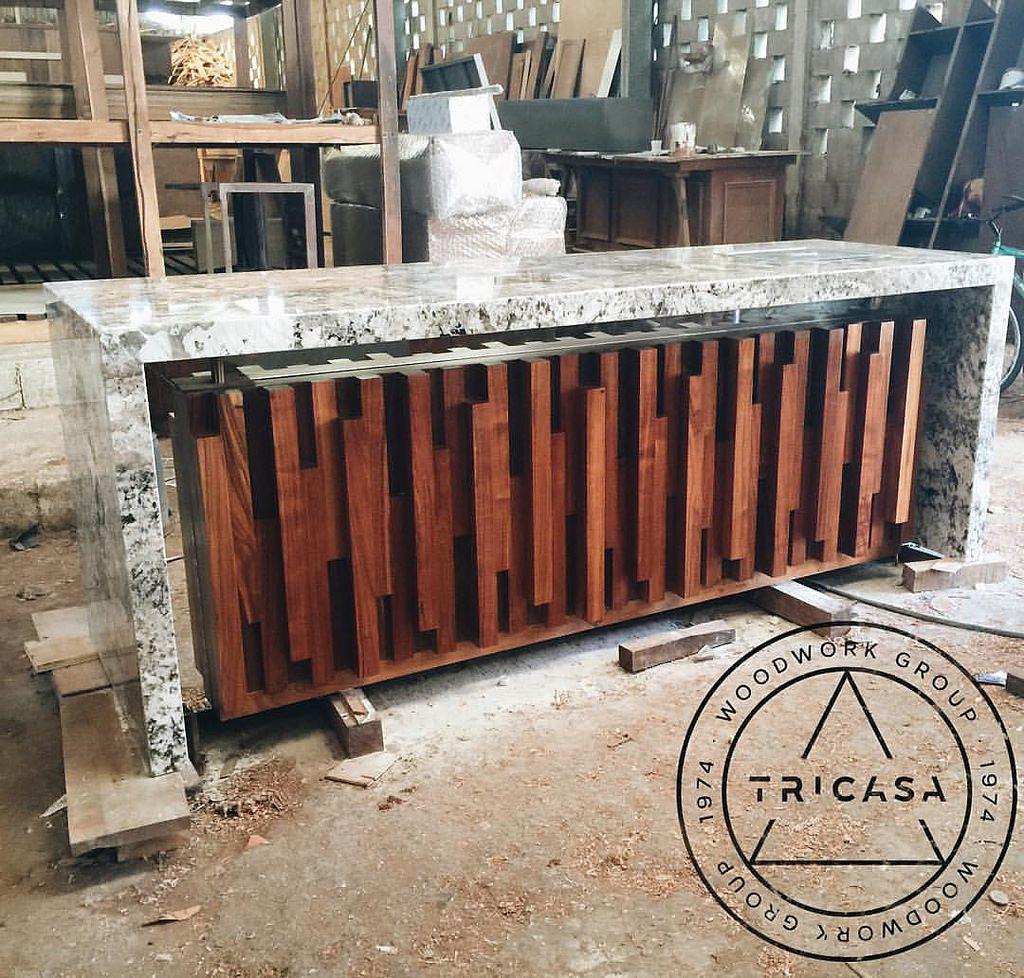 Lista para entrega barra bar fabricada en madera de for Disenos de bar de madera