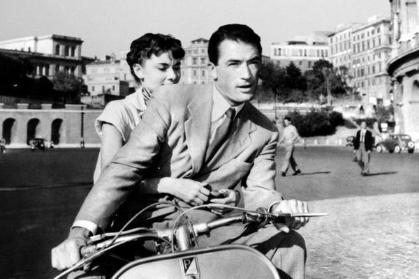 VACANZE ROMANE di William Wyler, con Gregory Peck e Audrey Hepburn, 1953