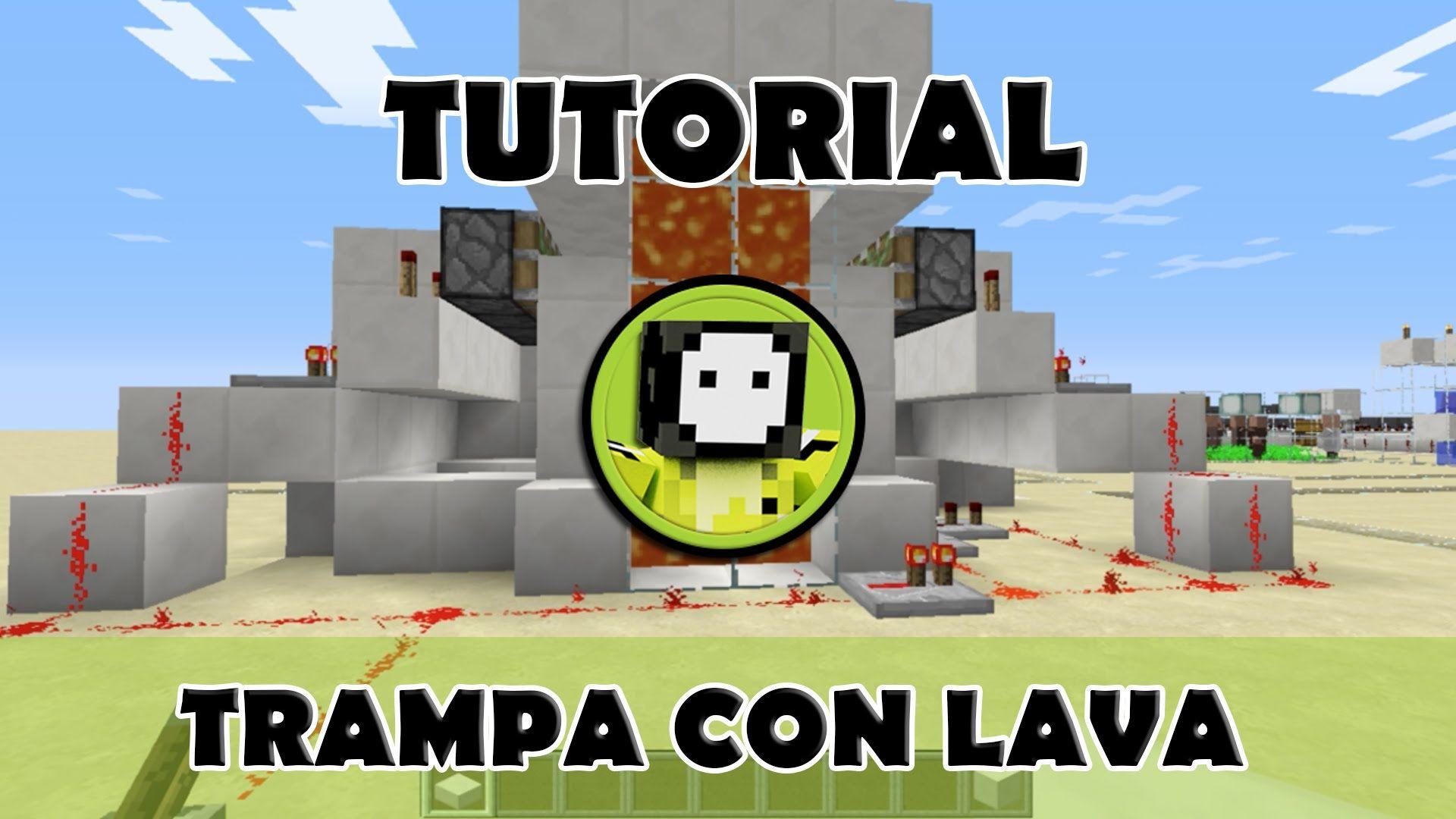 Tutorial Minecraft Trampa De Cofres Con Lava Minecraft Lava Cofre