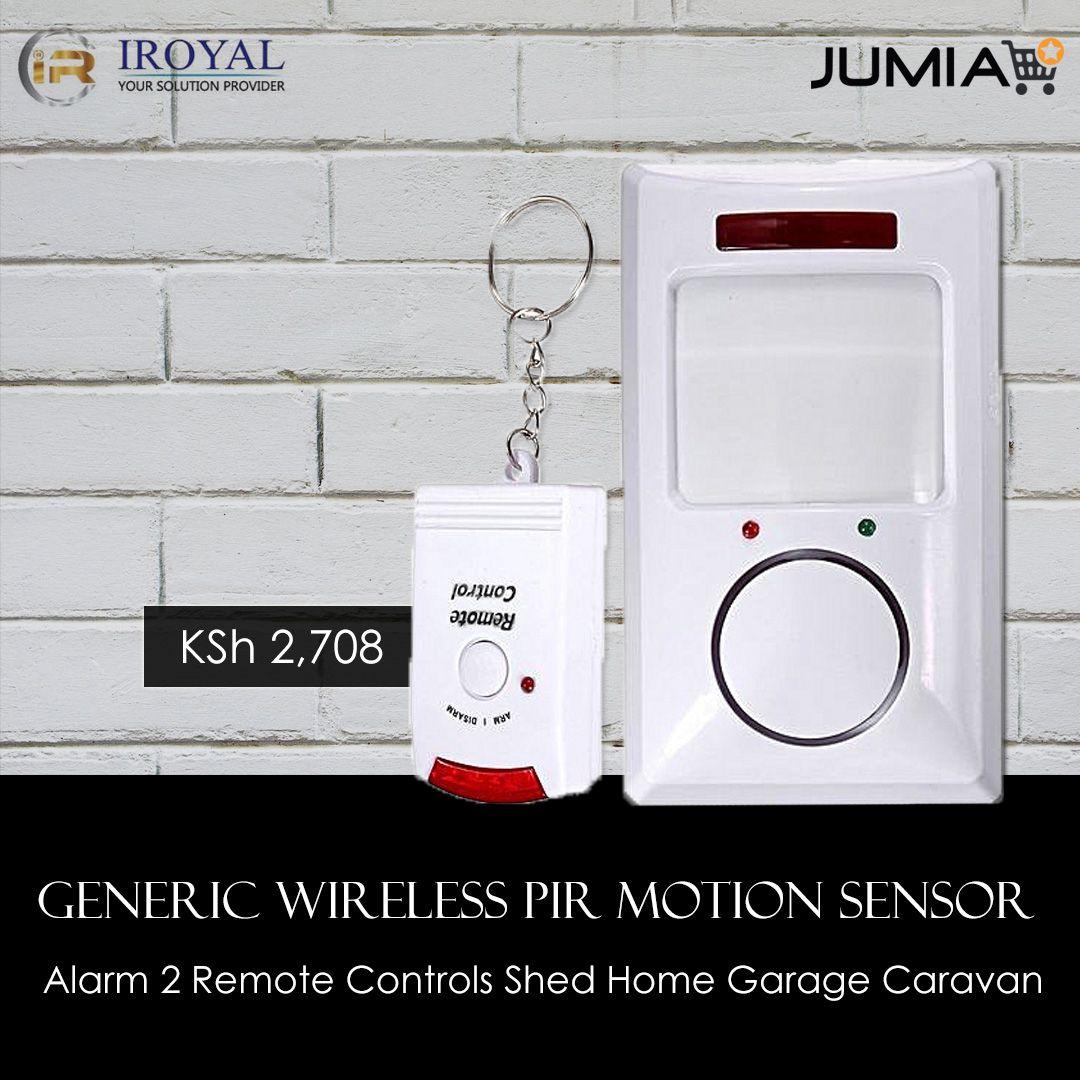Generic wireless pir motion sensor alarm 2 remote