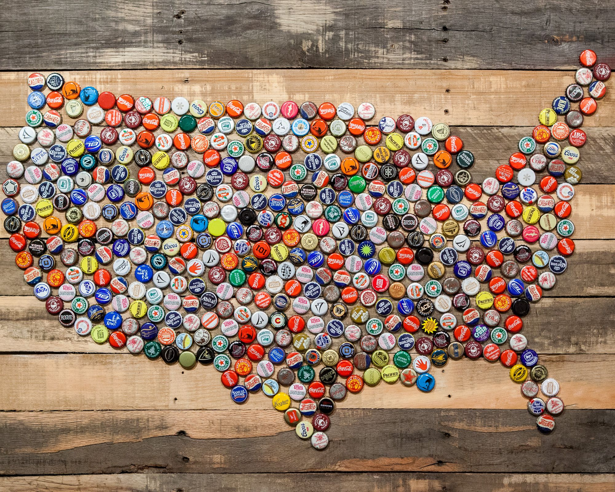 Creative Ways To Use Your Leftover Bottle Caps Cap Bottle - Us beer cap map