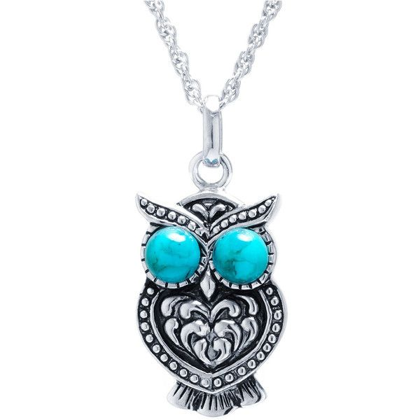 Womens Blue Turquoise Sterling Silver Pendant Necklace (65 AUD) ❤ liked on Polyvore featuring jewelry, necklaces, turquoise necklace, turquoise jewelry, pendant necklace, blue turquoise jewelry and sterling silver jewelry